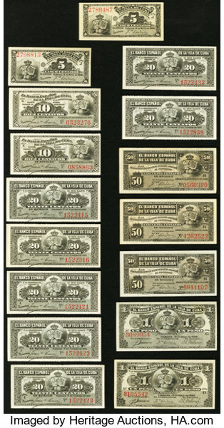 World Currency An Offering Of Fif Small Change Notes From The Spanish Colonyof Cuba