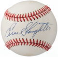 Autographs:Baseballs, Enos Slaughter Single Signed Baseball....