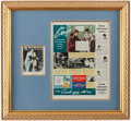 Autographs:Photos, Joe DiMaggio Signed Framed Display with Camel Advertisement....