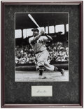 Autographs:Index Cards, Jimmie Foxx Signed Index Card Framed Display....