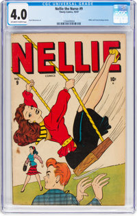 Nellie the Nurse #9 (Timely, 1947) CGC VG 4.0 Off-white to white pages