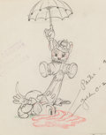 Animation Art:Production Drawing, The Country Cousin Abner and Monty Animation/Model Drawing(Walt Disney, 1936). ...