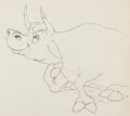 Animation Art:Production Drawing, Ferdinand the Bull Ferdinand Animation Drawing (Walt Disney,1938). ...