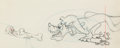 Animation Art:Production Drawing, Bone Bandit Pluto and Gopher Animation Drawing (Walt Disney,1948). ...