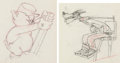 Animation Art:Production Drawing, The Practical Pig Practical Pig and the Big Bad WolfAnimation Drawings Group of 2 (Walt Disney, 1939).... (Total: 2Original Art)