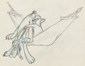 Animation Art:Production Drawing, Puss Café Pluto and Milton Production Drawing (Walt Disney,1950)....
