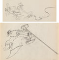 Animation Art:Production Drawing, Mail Pilot Mickey Mouse and Pete Group of 2 Animation Drawings (Walt Disney, 1933). ... (Total: 2 Original Art)