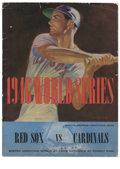 Autographs:Others, 1946 World Series Program Signed by Members of the St. Louis Cardinals. Tremendous World Series program from the Fenway Par...