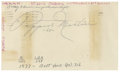 Autographs:Index Cards, Pepper Martin Signed Index Card. This index card with a postmark dating 1965 carries with it Pepper Martin's exceptional au...
