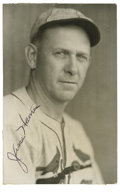 "Autographs:Post Cards, Jesse Haines Signed Postcard. The 3x5"" photographic postcard weoffer features an intense black-and-white portrait of the 1..."