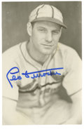 Autographs:Post Cards, Leo Durocher Signed Postcard. A glorious image of the Hall of Fameskipper Leo Durocher is picture during his Gas House Gan...