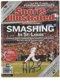 Autographs:Letters, Albert Pujols Single Signed Sports Illustrated. The Oct. 4, 2004issue of Sports Illustrated, featuring Albert Pujols on th...