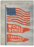 Autographs:Others, 1942 World Series Program Signed by the St. Louis Cardinals. 1942marked the first of three times that the St. Louis Cardin...