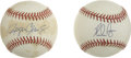 Autographs:Baseballs, Nolan Ryan Single Signed Baseball. The Texas legend Nolan Ryan haschecked in on the official 1994 World Series orb that we...