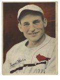 """Autographs:Sports Cards, Pepper Martin Signed Premium Card. Beautiful premium 3x5"""" card fromthe 1936 R312 issue features Gas House Gang staple Pep..."""