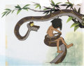 Animation Art:Production Cel, The Jungle Book Mowgli and Kaa Production Cel Setup (WaltDisney, 1967).... (Total: 3 Items)