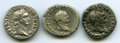 Ancients:Ancient Lots , Ancients: ANCIENT LOTS. Roman Imperial. Ca. AD 69-96. Lot of three(3) AR denarii. About VF-VF.... (Total: 3 coins)