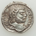 Ancients:Roman Imperial, Ancients: Constantius I, as Caesar (AD 293-305). AR argenteus(19mm, 3.15 gm, 11h). XF....