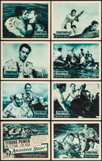 """Abandon Ship! & Others Lot (Columbia, 1957). Lobby Card Set of 8 (11"""" X 14"""") & One Sheets (2) (27""""..."""