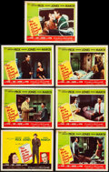 """Movie Posters:Drama, The Man in the Gray Flannel Suit (20th Century Fox, 1956).Fine/Very Fine. Title Lobby Card & Lobby Cards (6) (11"""" X ..."""