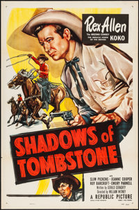 """Shadows of Tombstone & Other Lot (Republic, 1953). One Sheets (8) (27"""" X 41""""). Western. ... (Total: 8 Item..."""