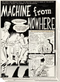 "Original Comic Art:Complete Story, Harry Harrison Weird Science #14 Complete 6-Page Story""Machine from Nowhere"" Original Art (EC, 1950).... (Total: 6Original Art)"