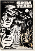 "Original Comic Art:Complete Story, Tom Hickey Chamber of Chills Magazine #24 Complete 5-PageStory ""Grim Years"" Original Art (Harvey, 1954).... (Total: 5Original Art)"
