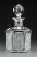 Art Glass:Lalique, A Lalique Grand Marnier Crystal Decanter with Grape Motifs,post-1945. Marks: Lalique, France, 516. 8-1/2 x 4-1/2inches...