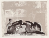 Henry Spencer Moore (British, 1898-1986) Sculptures III, 1988 Lithograph in colors on paper 9-1/2