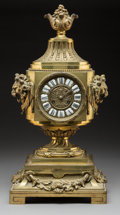 Clocks & Mechanical, A French Louis XV-Style Gilt Bronze Clock, late 19th century. Marks to movement: ND 1462 . 23 x 11-1/4 x 9-1/2 inches (5...