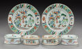Asian:Chinese, Four Chinese Export Porcelain Trencher Salts with Two Cont...