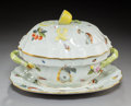 Ceramics & Porcelain, A Herend Queen Victoria Pattern Porcelain Tureen and Underplate, Herend, Hungary, late 20th century. Marks: (Her... (Total: 2 Items)