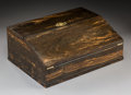 Other, A Fine English Coromandel and Maple Writing Box, late 19th-early 20th century. Marks: S. MILLER, Park St. Bristol; PATENT,...