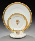 Ceramics & Porcelain, Continental:Contemporary   (1950 to present)  , A Forty-Eight-Piece Royal Copenhagen Gold Basket PatternPorcelain Dinner Service, Copenhagen, Denmark, mid-20th... (Total:48 Items)