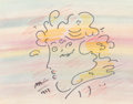 Works on Paper, Peter Max (American, b. 1937). Woman in Profile, 1983. Mixed media on paper. 7-1/2 x 9-1/4 inches (19.1 x 23.5 cm) (sigh...