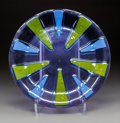 Art Glass:Other , A Higgins Glass Charger, Riverside, Illinois, circa 1970. Marks:higgins. 16-3/4 inches (42.5 cm). ....