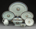 Asian:China Trade, Seven Various Chinese Export Porcelain Table Items, 18th-19thcentury. 10-1/4 x 13-1/8 inches (26.0 x 33.3 cm) (largest, pla...(Total: 7 Items)