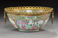 Asian:Chinese, A Gilt Bronze-Mounted Chinese Famille Rose Porcelain Bowl, 20thcentury. 4-3/4 x 10-7/8 inches (12.1 x 27.6 cm). ...