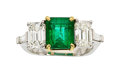 Estate Jewelry:Rings, Emerald, Diamond, Platinum, Gold Ring  The rin...
