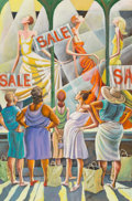 Paintings, Ernie Barnes (1938-2009). Window Wishing. Oil on canvas. 36 x 24 inches (91.4 x 61.0 cm). Signed lower right: Ernie Ba...