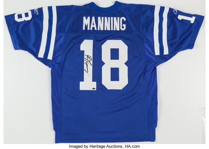 new style 6c286 3d607 Peyton Manning Signed Indianapolis Colts Jersey ...