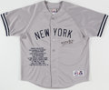 Autographs:Jerseys, Whitey Ford Signed New York Yankees Stat Jersey. O...