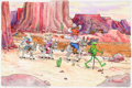 Animation Art:Production Drawing, Muppets on the Road Sticker Stories Book IllustrationOriginal Art by Rick Brown (Jim Henson Associates/Grosset &Dunl... (Total: 2 Items)