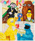 Animation Art:Production Drawing, Sesame Street Magazine Big Bird's Birthday Illustration byRick Brown (Jim Henson Associates/The Parenting Group, c. ...