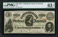 Confederate Notes:1863 Issues, T56 $100 1863 PF- 2 Cr. 403 PMG Choice Uncirculated 63 EPQ.. ...