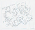 Animation Art:Concept Art, Space Jam T-Shirt Concept Drawings Group of 3 (WarnerBrothers, 1996).... (Total: 3 Original Art)