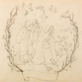 Animation Art:Production Drawing, Beauty and the Beast Preliminary Illustration Original Art(Walt Disney, 1991)....