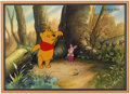 Animation Art:Production Cel, Winnie the Pooh and Piglet Production Cel and Master Background(Walt Disney, c. 1990s)....