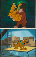 Animation Art:Production Cel, Scooby-Doo Where Are You/The New Scooby-Doo Mysteries Production Cel and Master Background Setups Group of 2 (Hanna-Ba... (Total: 2 )