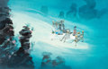 Animation Art:Concept Art, Bedknobs and Broomsticks Underwater Concept Painting by DickKelsey (Walt Disney, 1971)....